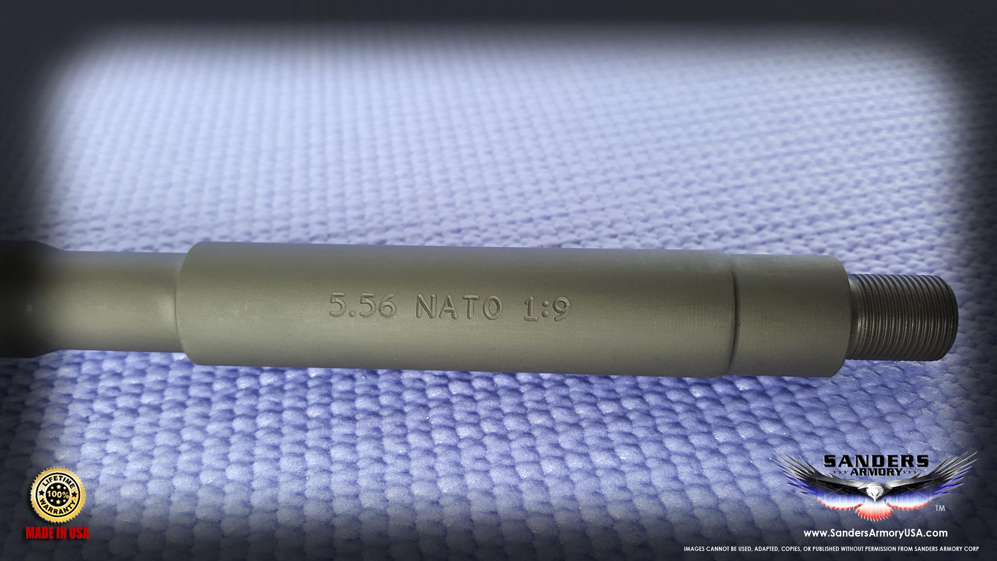 """16"""" Contour Parkerized 4140 Chrome Moly Steel 5 56 NATO 1:9"""