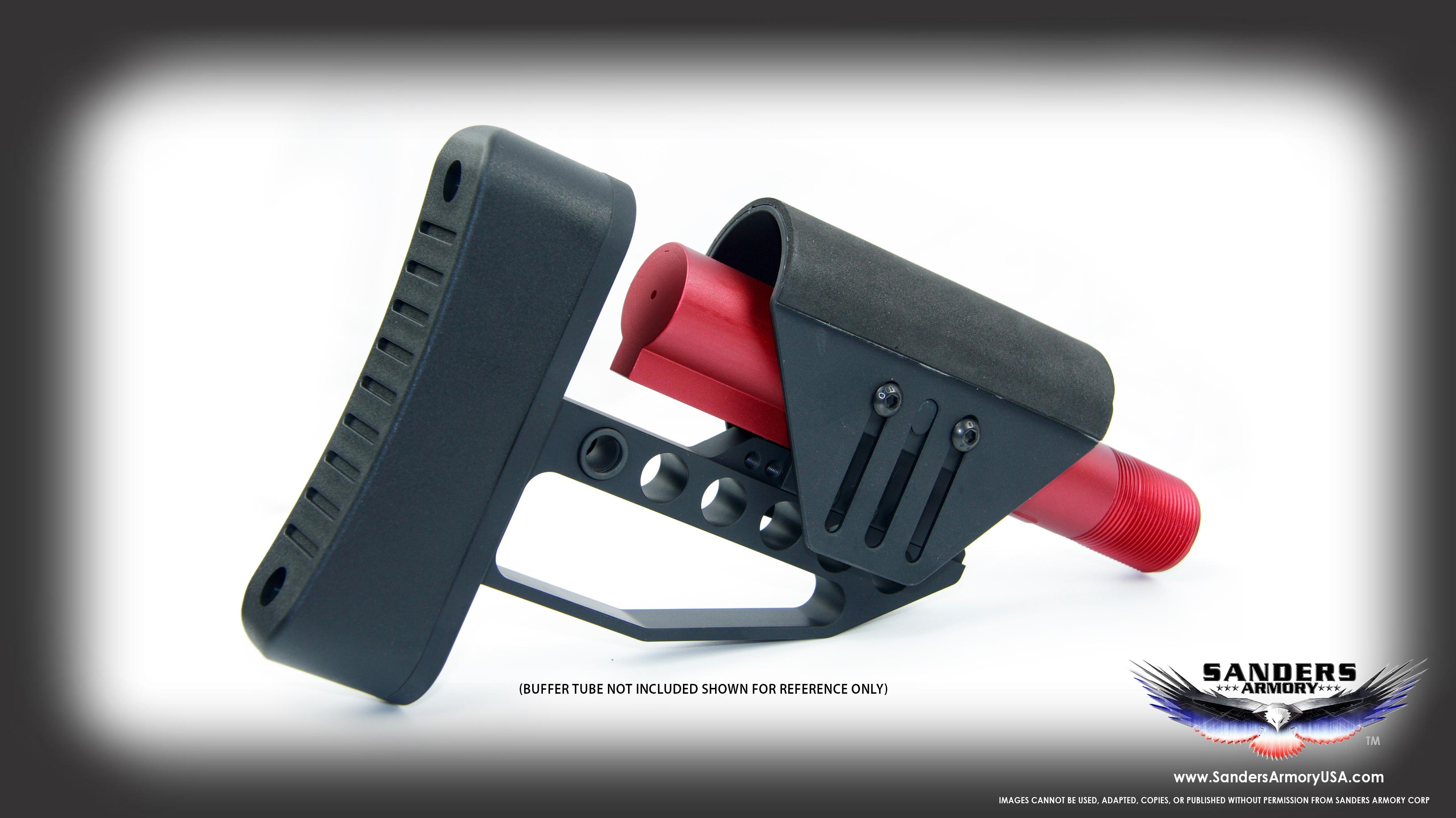 Sanders Armory AR-10/AR-15 Tactical Buttstock - TachStockTWO