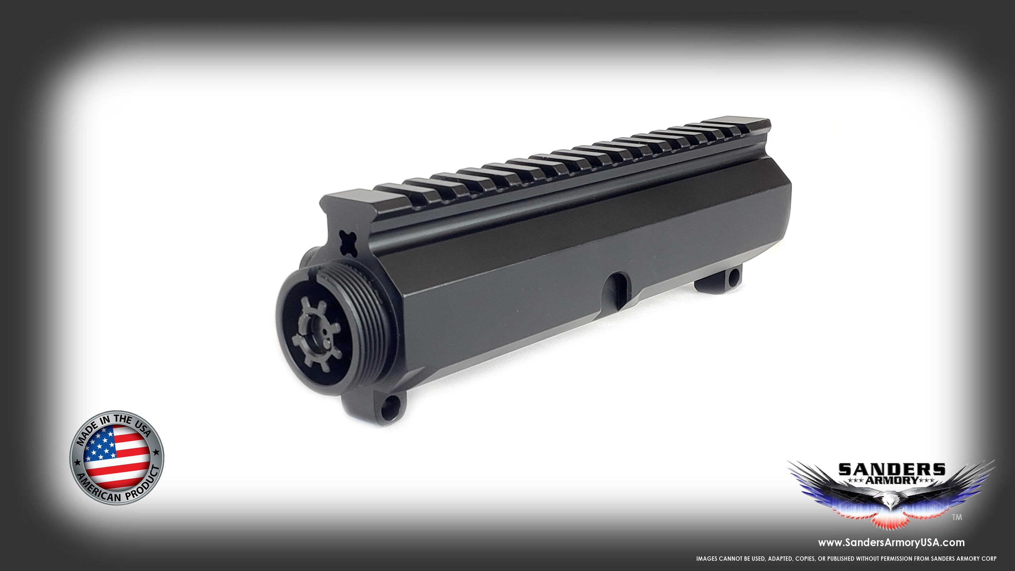 458 SOCOM BILLET Side Charge Upper Receiver with Nitride BCG