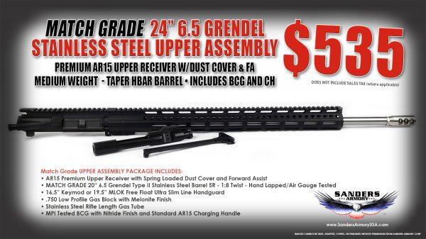Sanders Armory 24 65 Grendel Match Grade Upper Assembly