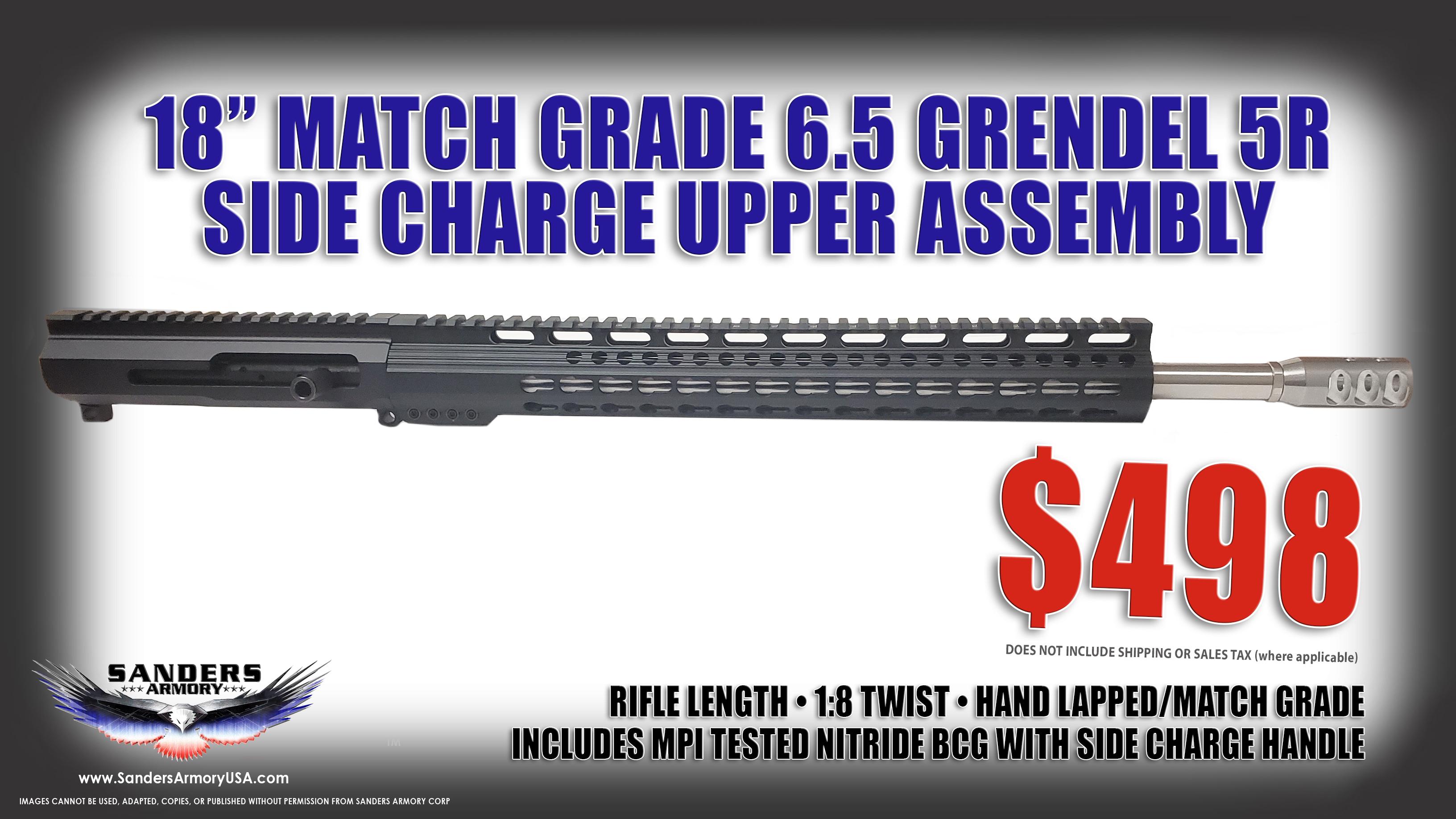 Sanders Armory 18″ Match Grade 6.5 Grendel Type II