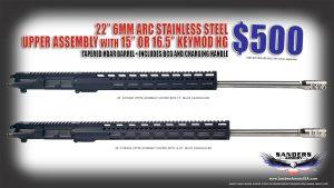 Sanders Armory 6MM ARC Match Grade Upper Assembly