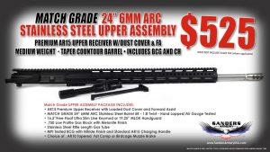 "Sanders Armory 24"" 6MM ARC Match Grade Upper Assembly"
