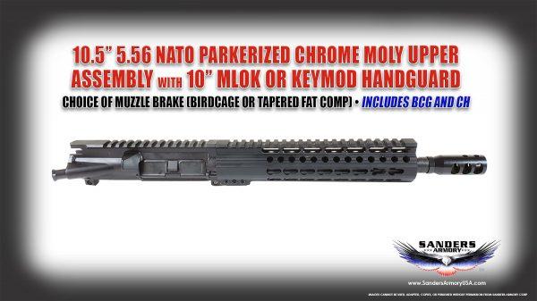 Sanders Armory 105 556 NATO Parkerized BCG Upper Assembly