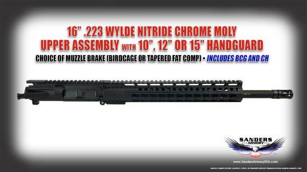 Sanders Armory 223 Wylde Nitride BCG Upper Assembly
